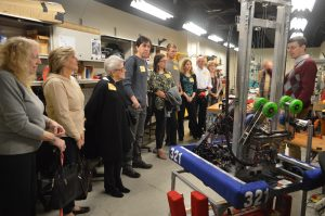 Alumni visiting the CHS Robotics Lab